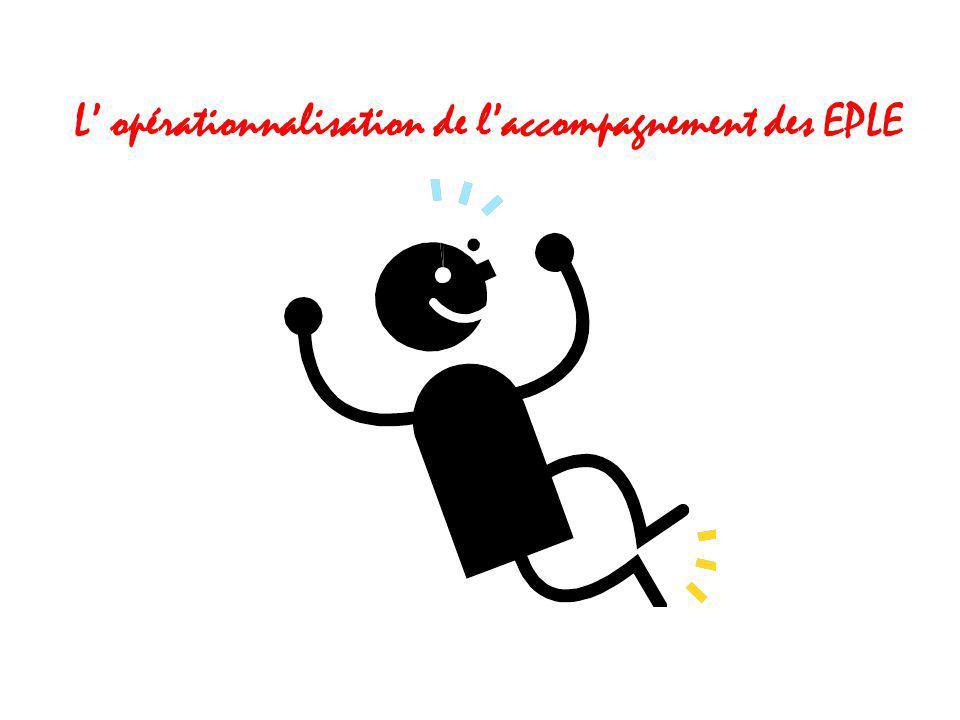 L' opérationnalisation de l'accompagnement des EPLE