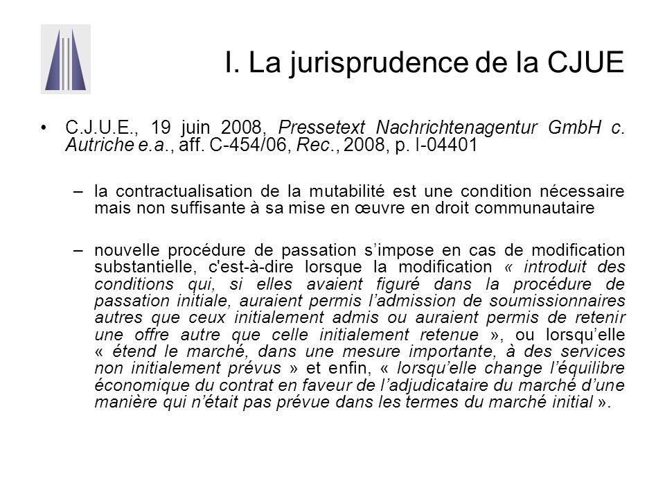 I. La jurisprudence de la CJUE