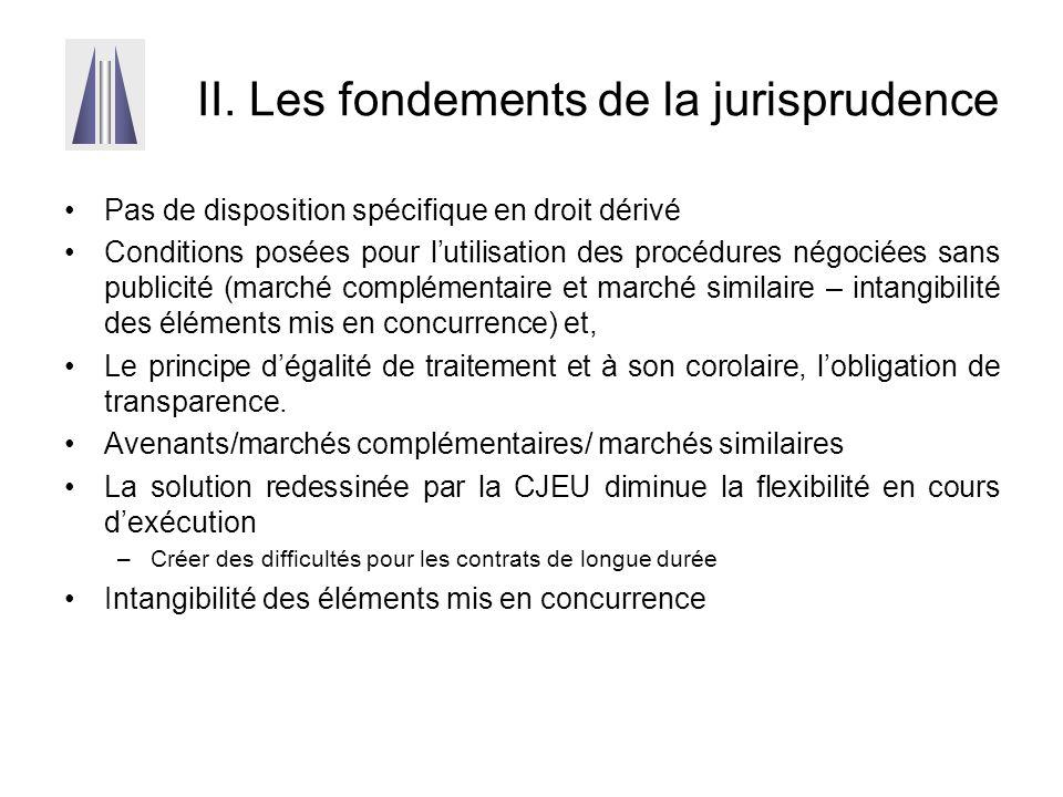 II. Les fondements de la jurisprudence