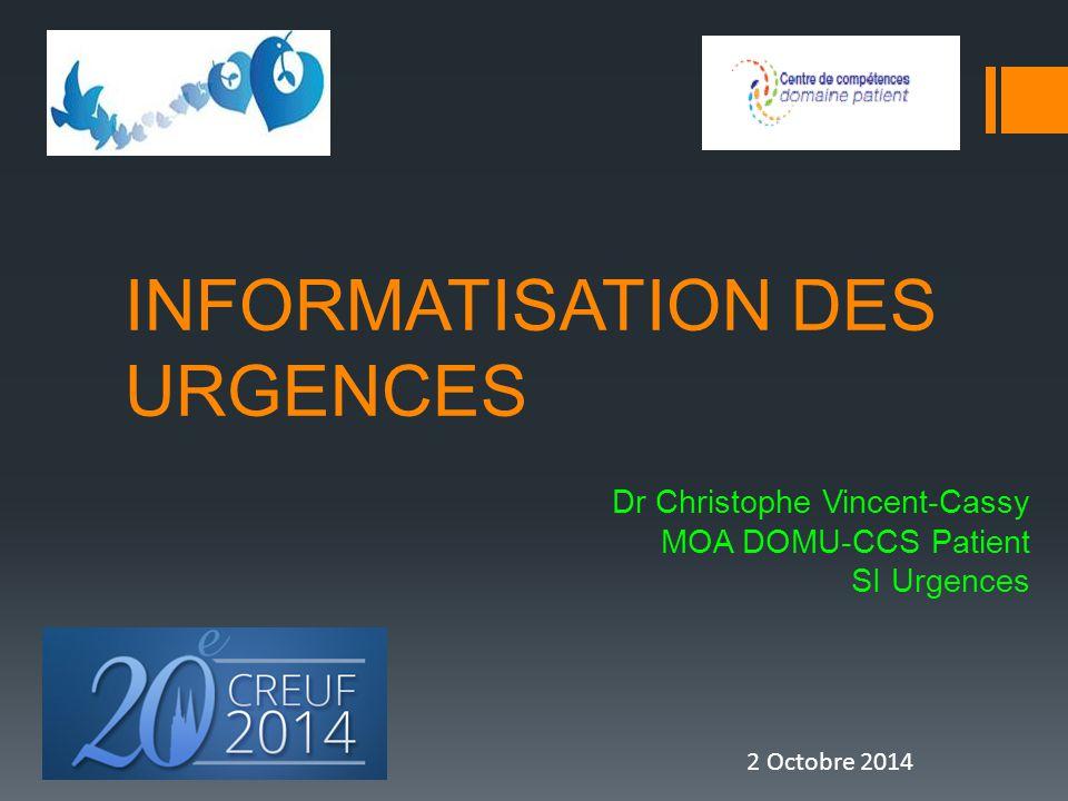 INFORMATISATION DES URGENCES