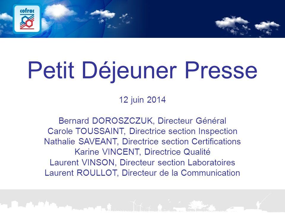 Petit Déjeuner Presse 12 juin 2014