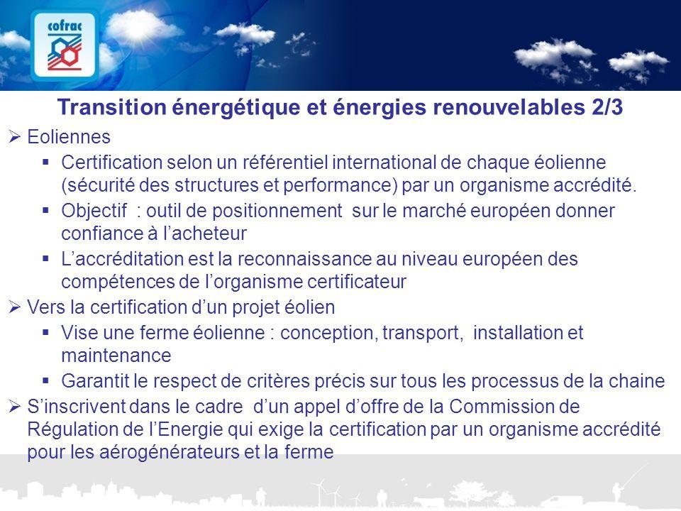 Transition énergétique et énergies renouvelables 2/3
