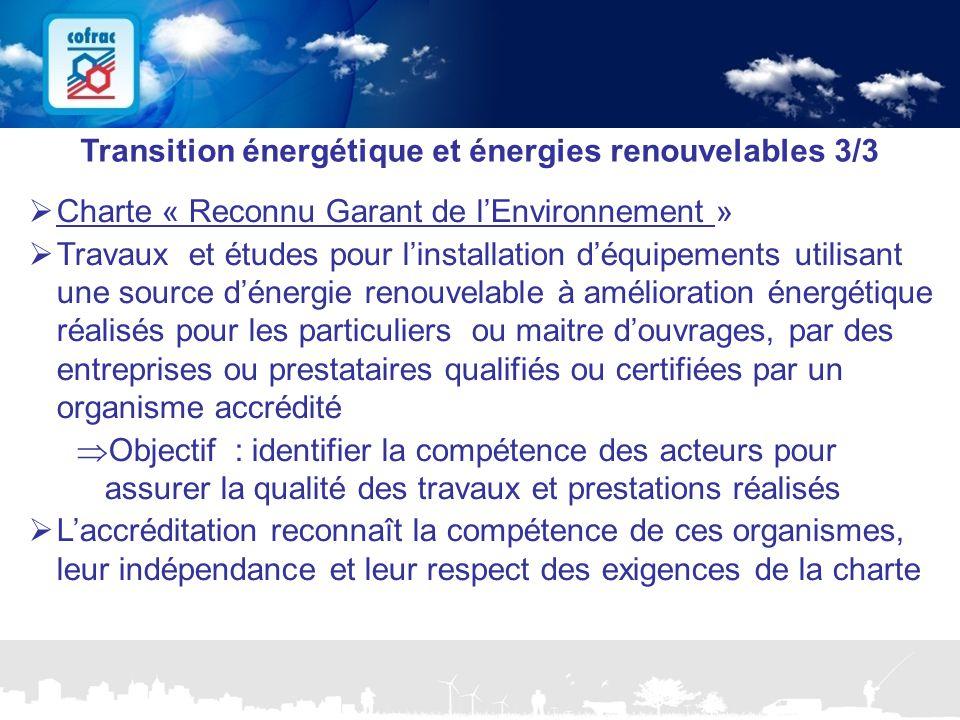 Transition énergétique et énergies renouvelables 3/3