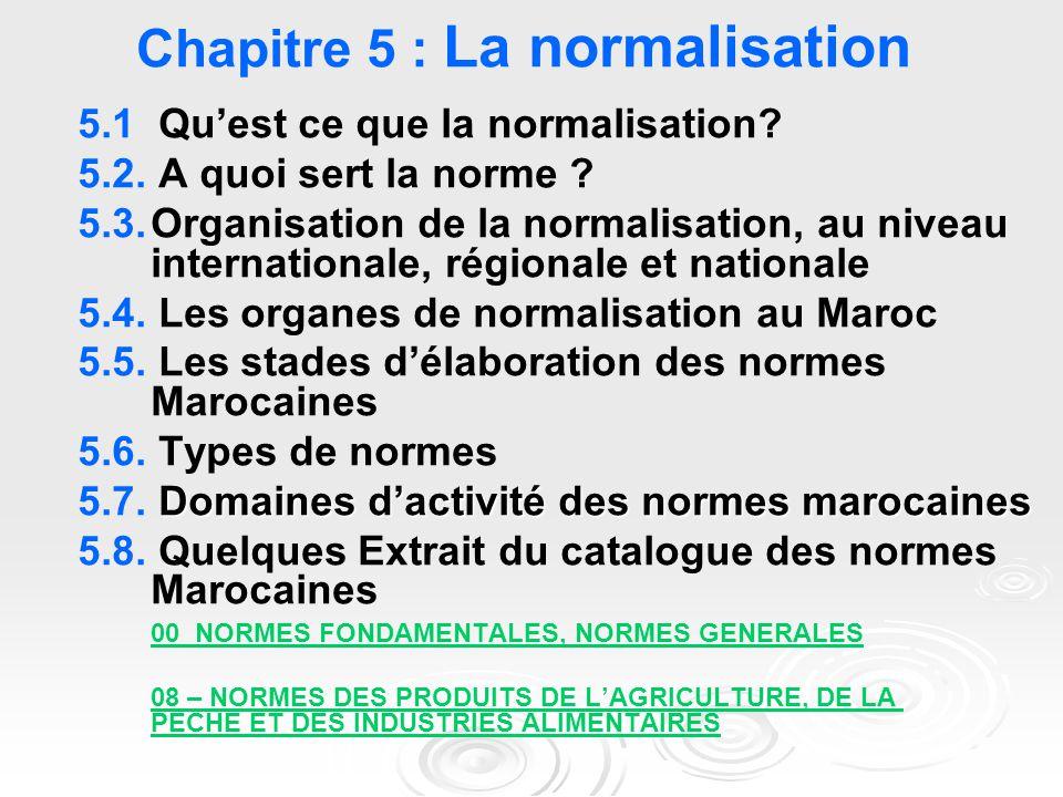 Chapitre 5 : La normalisation