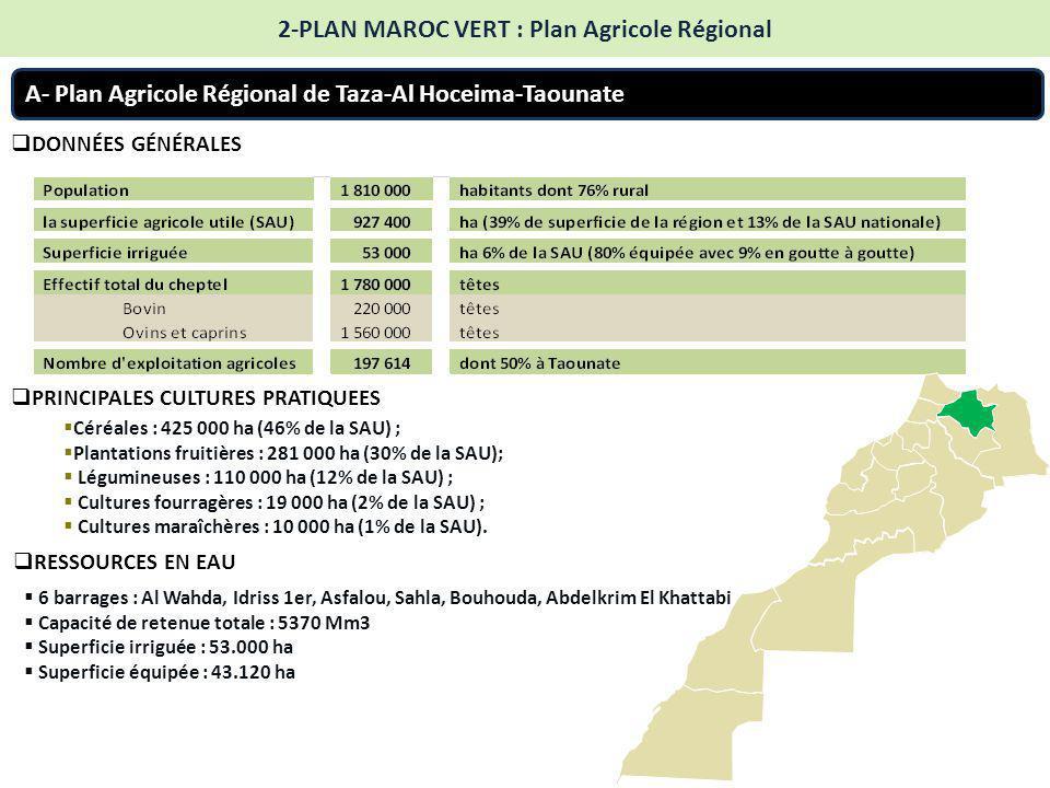 2-PLAN MAROC VERT : Plan Agricole Régional