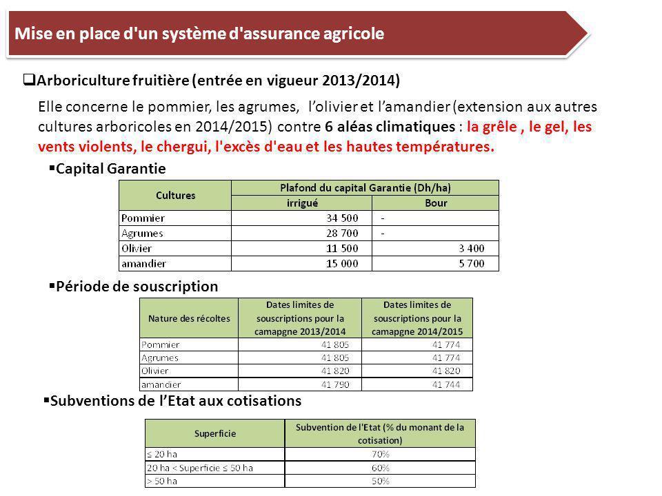 Mise en place d un système d assurance agricole