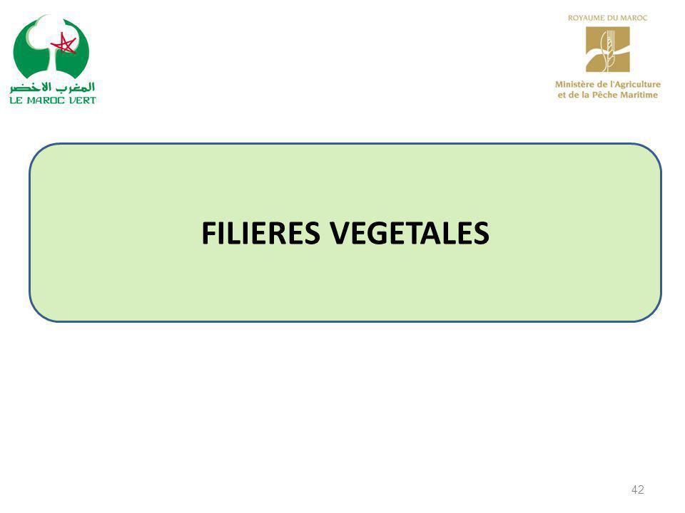 FILIERES VEGETALES