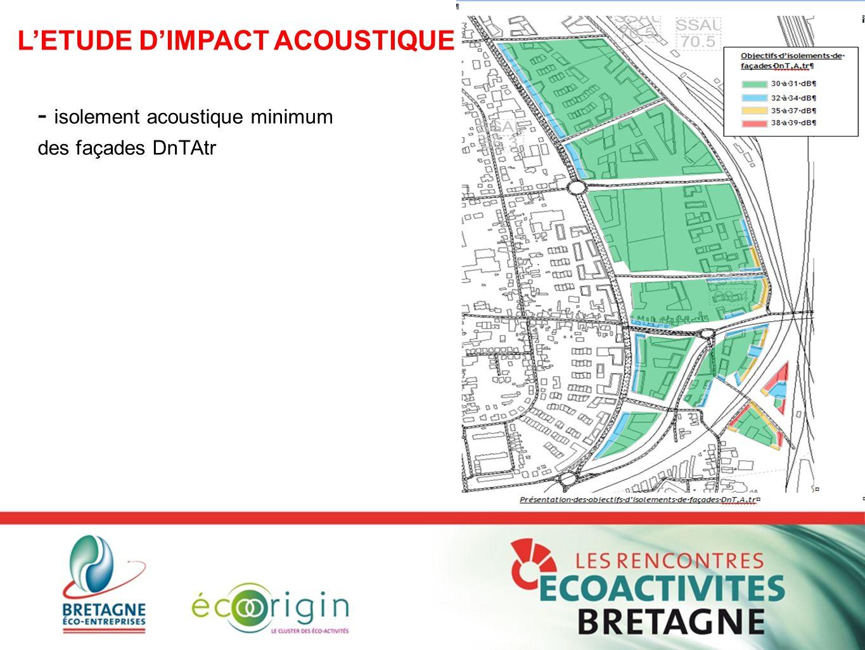 - isolement acoustique minimum des façades DnTAtr