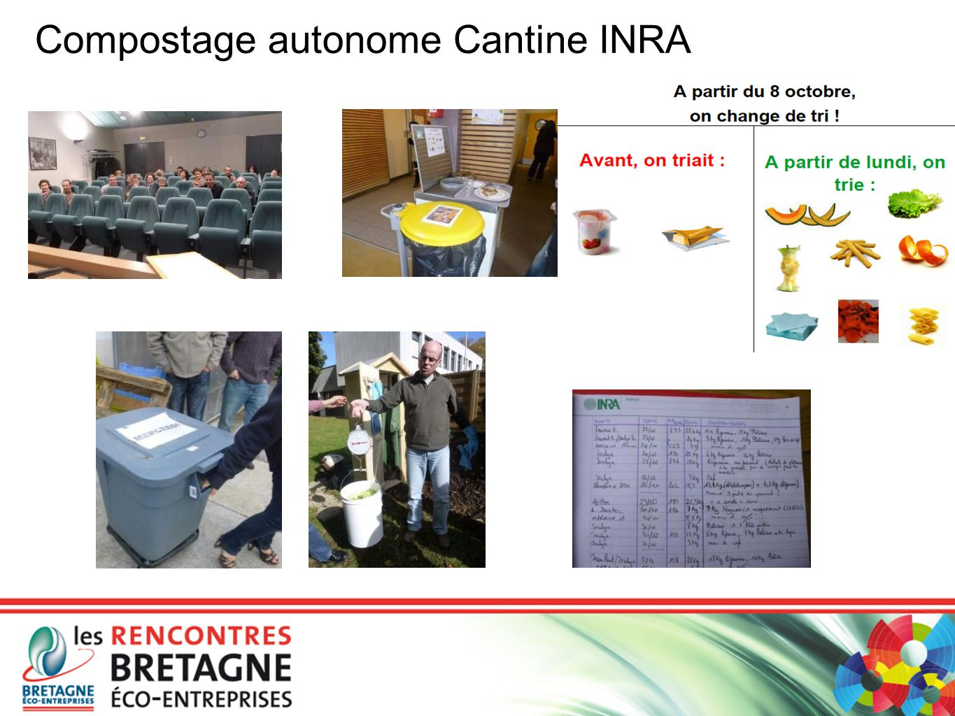 Compostage autonome Cantine INRA