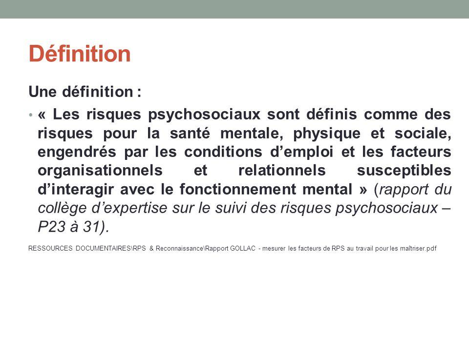 Définition Une définition :