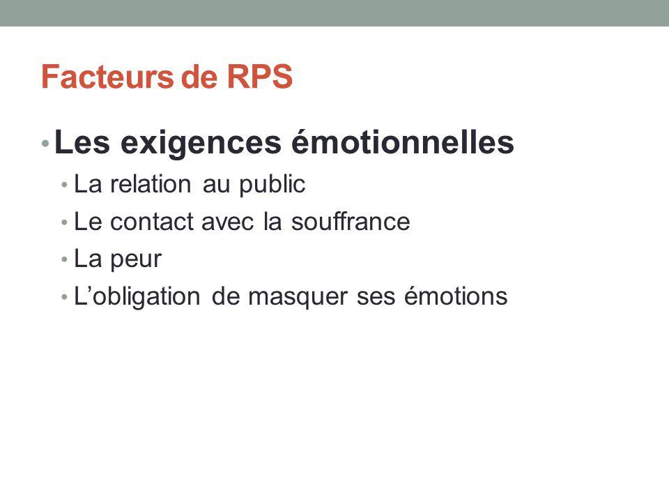 Les exigences émotionnelles