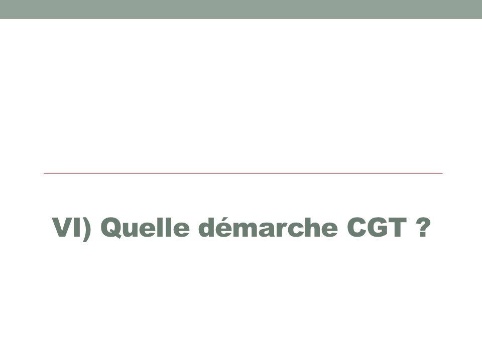 VI) Quelle démarche CGT