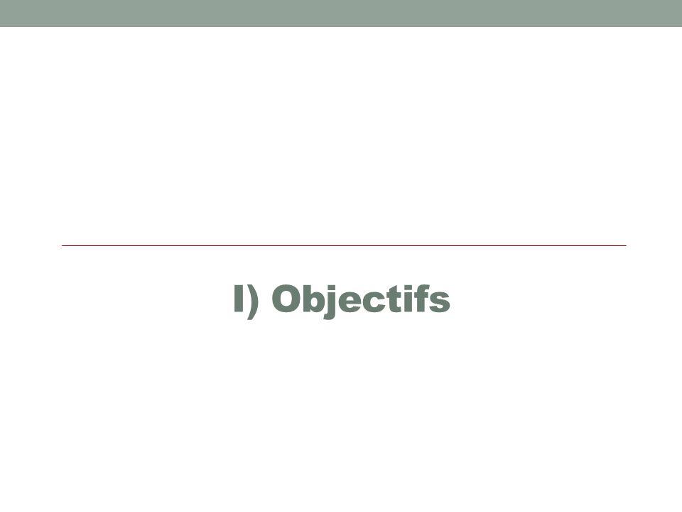 I) Objectifs