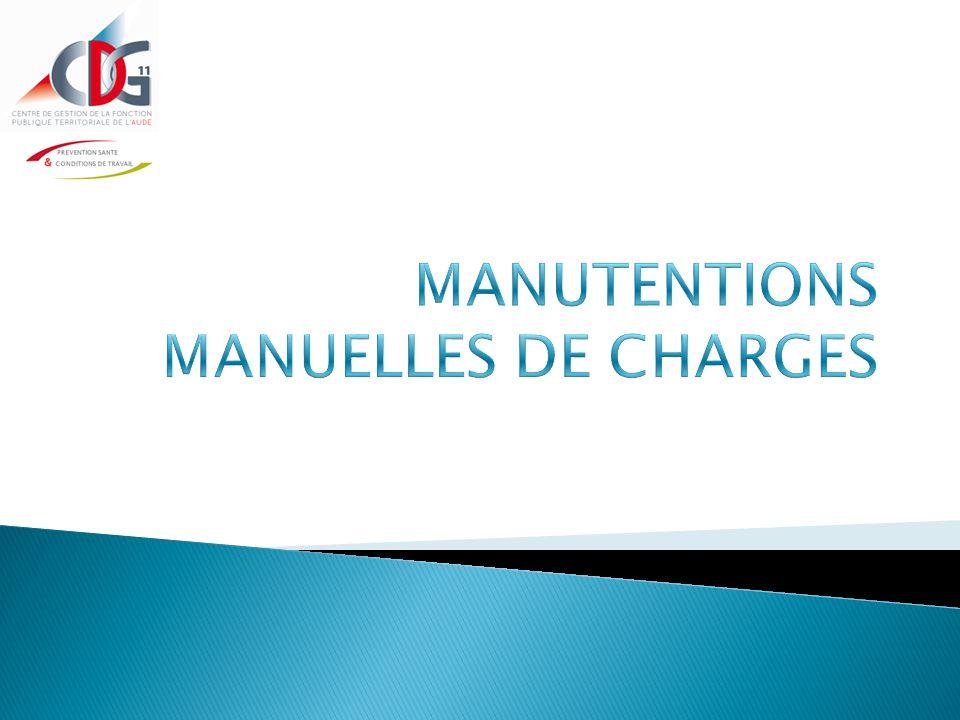 MANUTENTIONS MANUELLES DE CHARGES