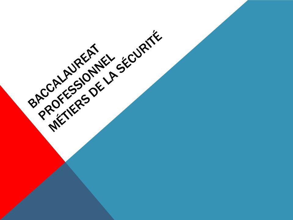 BACCALAUREAT PROFESSIONNEL MÉTIERS DE LA SÉCURITÉ