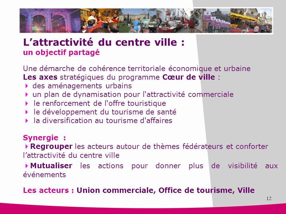 L'attractivité du centre ville :