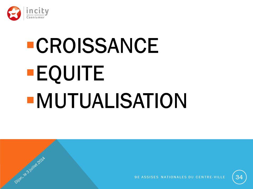 CROISSANCE EQUITE MUTUALISATION Dijon, le 3 juillet 2014