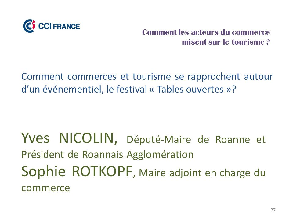 Sophie ROTKOPF, Maire adjoint en charge du commerce