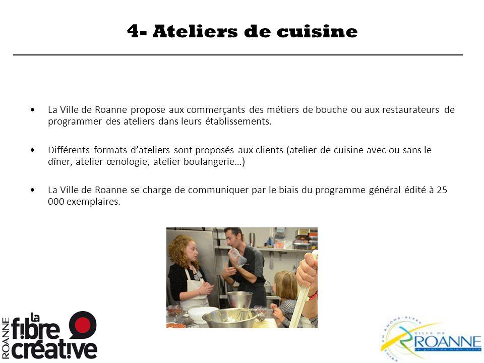 4- Ateliers de cuisine