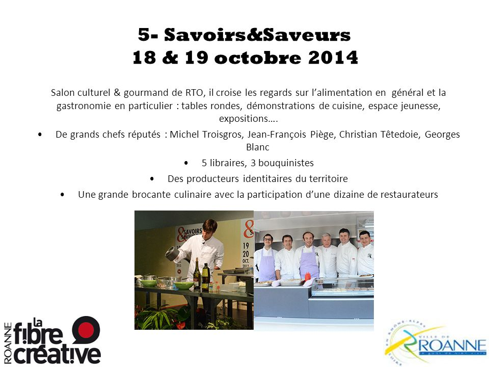5- Savoirs&Saveurs 18 & 19 octobre 2014