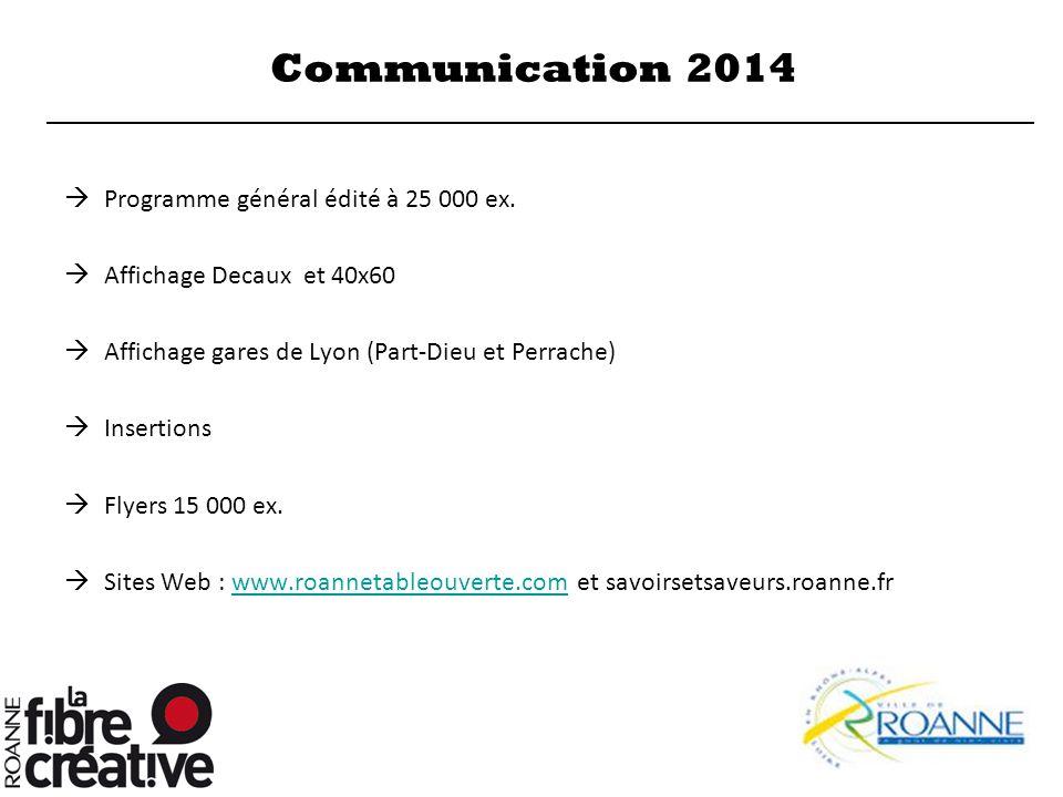 Communication 2014 Programme général édité à 25 000 ex.