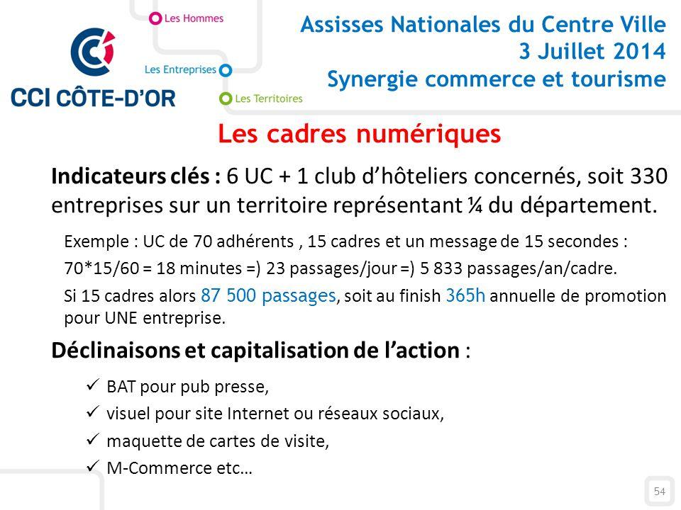 Assisses Nationales du Centre Ville 3 Juillet 2014 Synergie commerce et tourisme