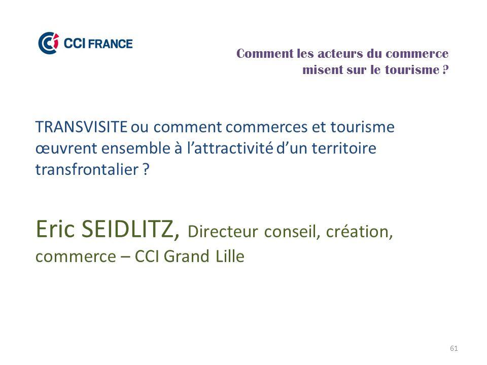 Eric SEIDLITZ, Directeur conseil, création, commerce – CCI Grand Lille