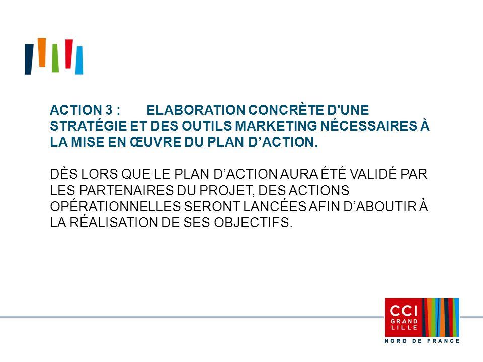 Action 3 : Elaboration concrète d une stratégie et des outils marketing nécessaires à la mise en œuvre du plan d'action.