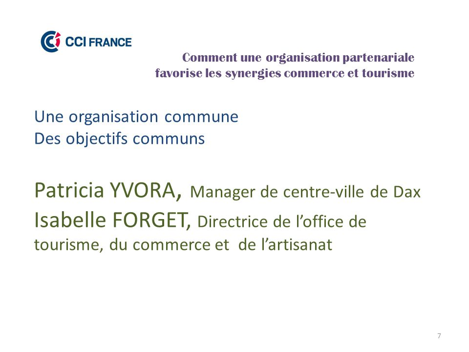 Patricia YVORA, Manager de centre-ville de Dax