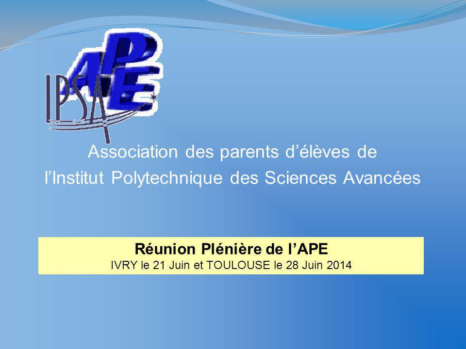 Réunion Plénière de l'APE