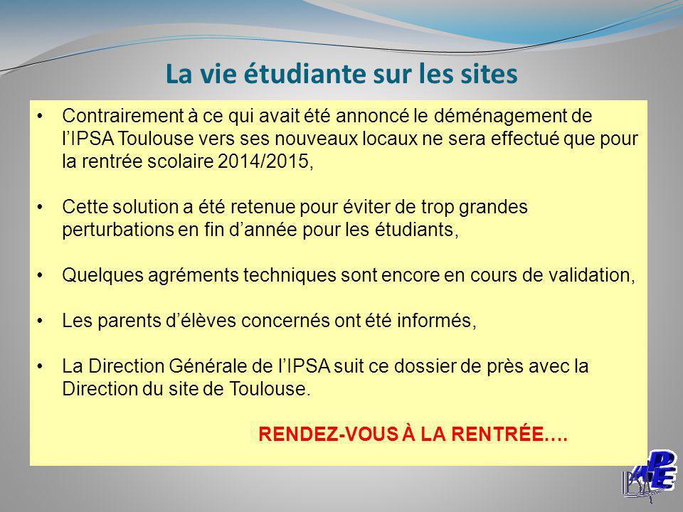 La vie étudiante sur les sites