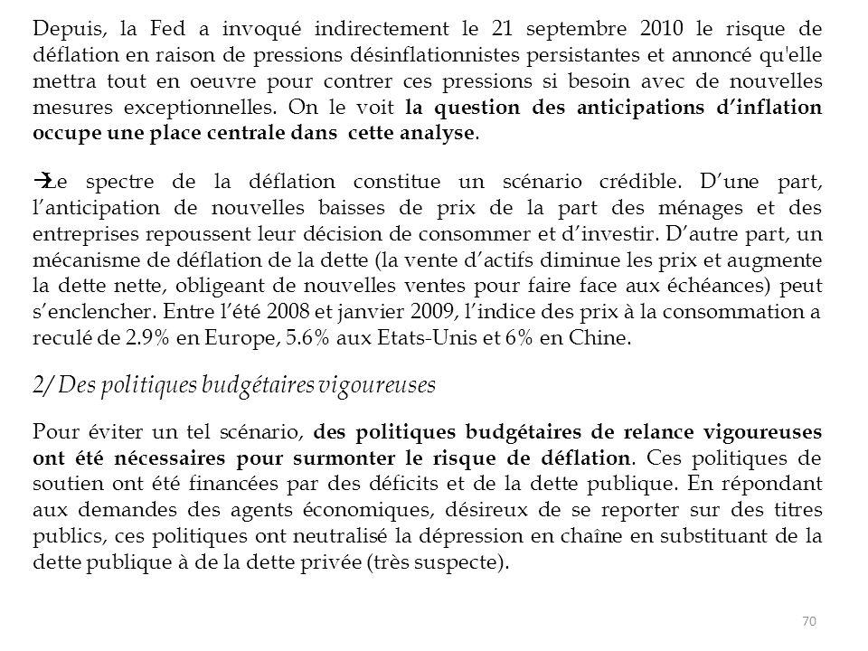 2/ Des politiques budgétaires vigoureuses