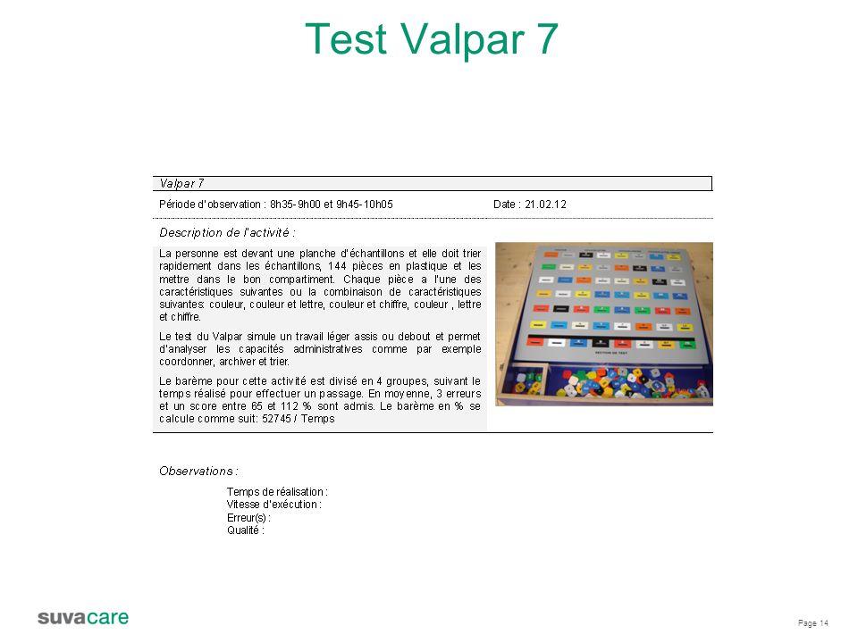 Test Valpar 7