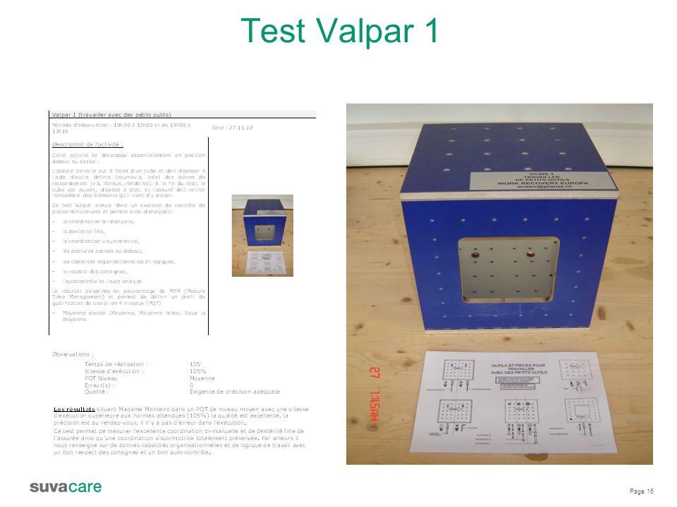 Test Valpar 1