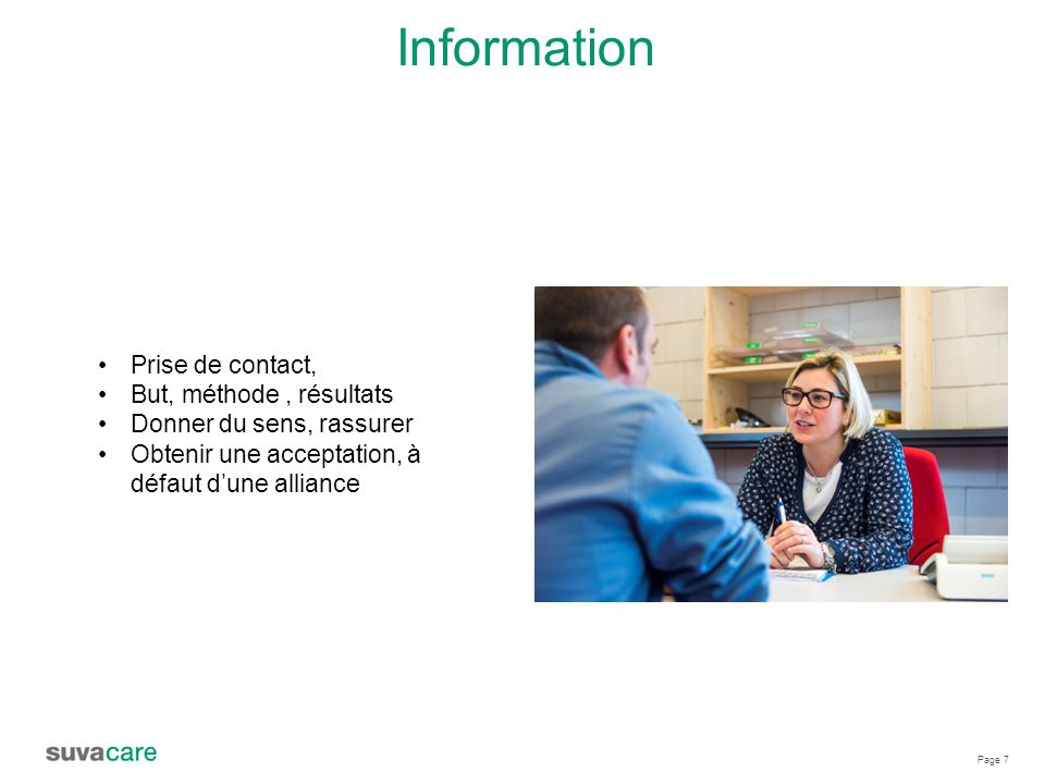 Information Prise de contact, But, méthode , résultats