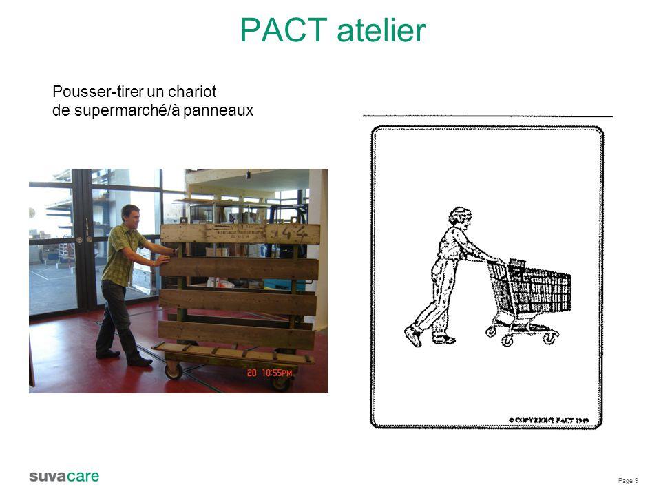 PACT atelier Pousser-tirer un chariot de supermarché/à panneaux
