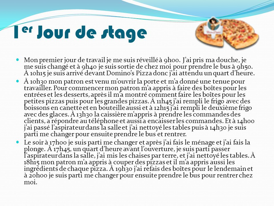 Rapport de stage 3eme cuisine id es inspir es pour la for Introduction rapport de stage cuisine