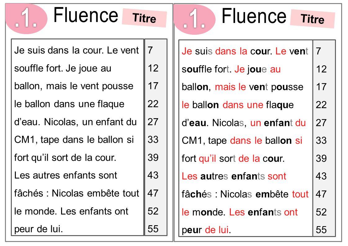 .1. Fluence. Fluence. Titre. .1. Titre.