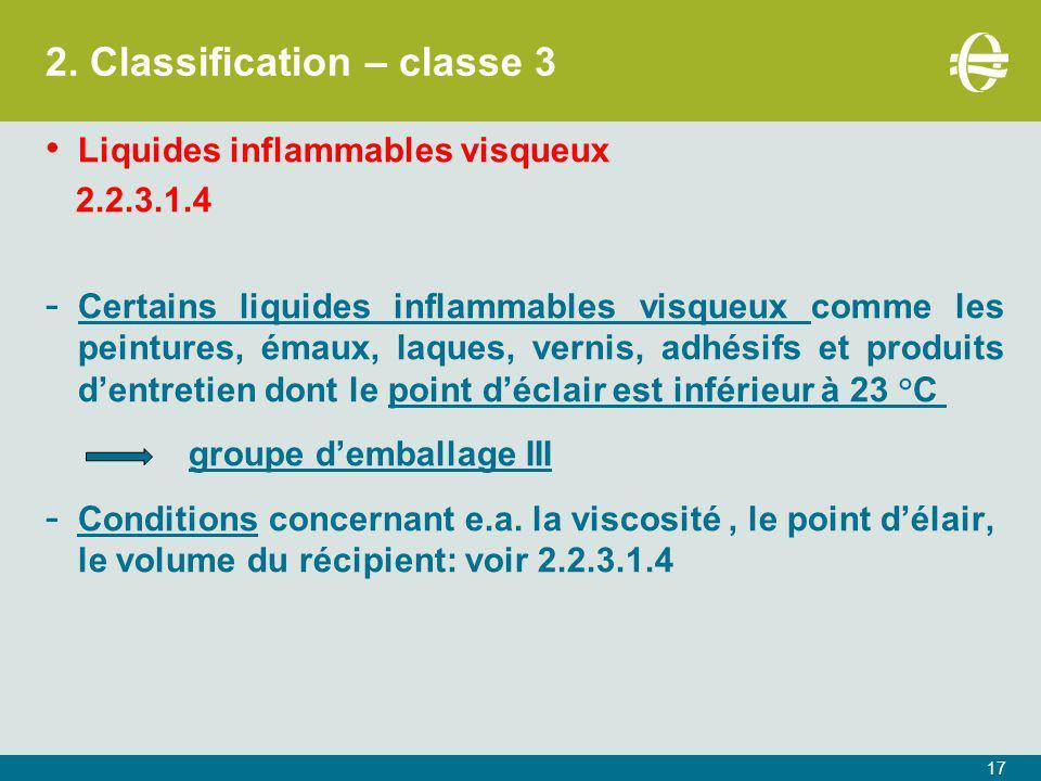 2. Classification – classe 3