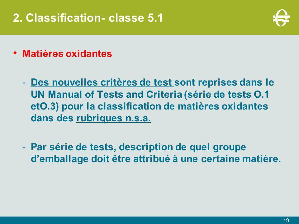 2. Classification- classe 5.1