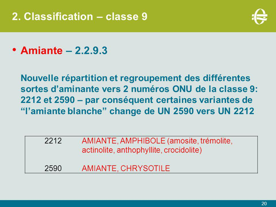 2. Classification – classe 9