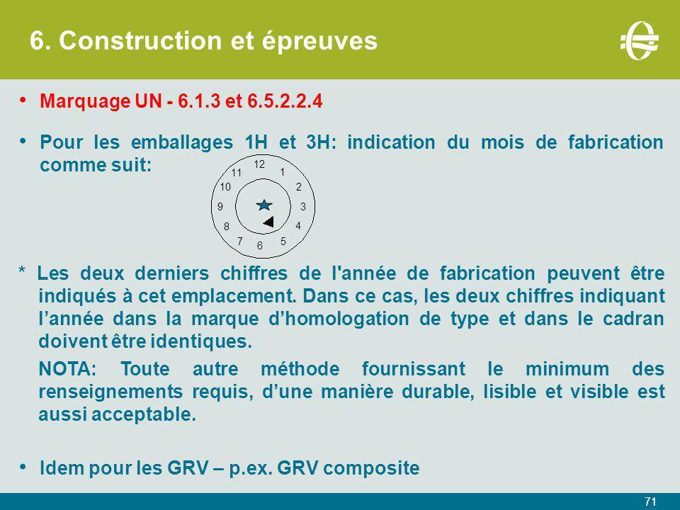 6. Construction et épreuves