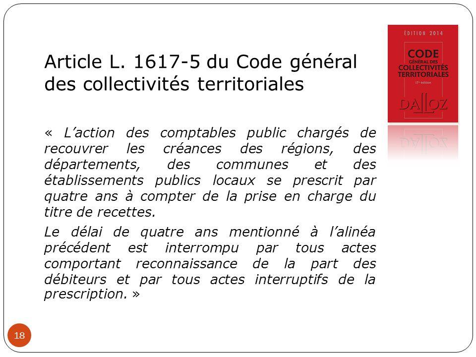 Article L. 1617-5 du Code général des collectivités territoriales