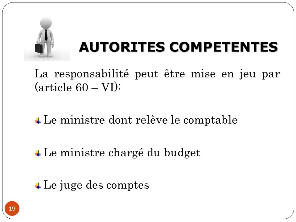 AUTORITES COMPETENTES