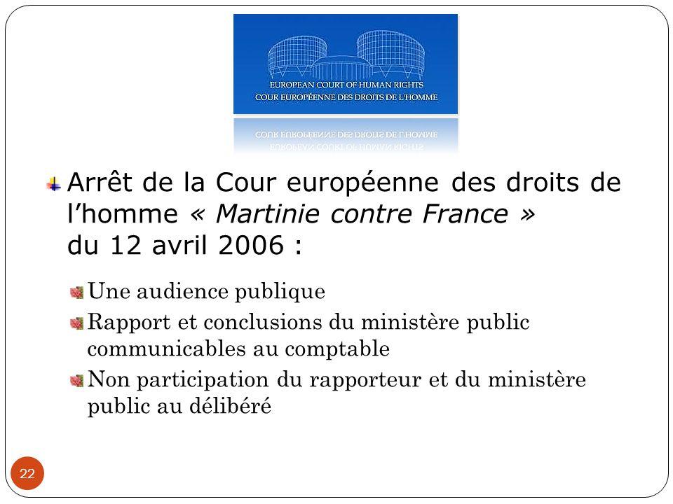 Arrêt de la Cour européenne des droits de l'homme « Martinie contre France » du 12 avril 2006 :