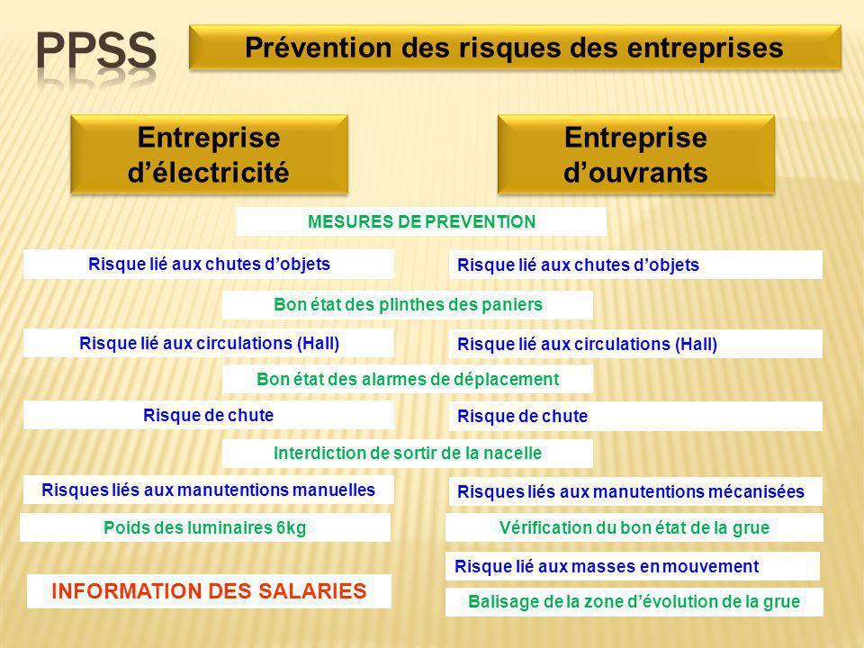 PPSS Prévention des risques des entreprises Entreprise d'électricité