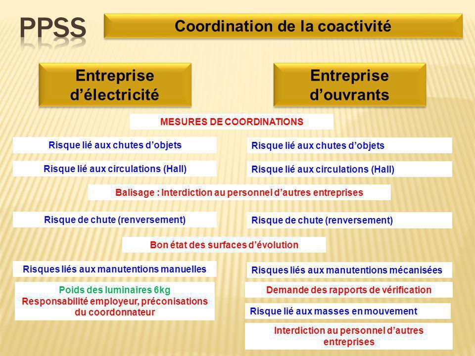 PPSS Coordination de la coactivité Entreprise d'électricité