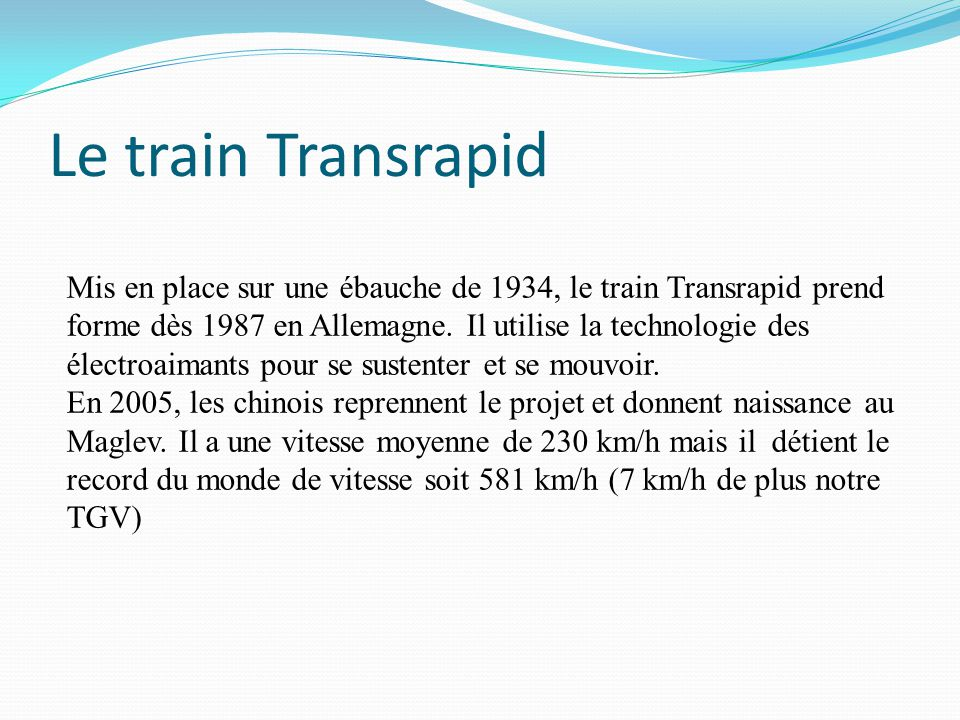 Le train Transrapid