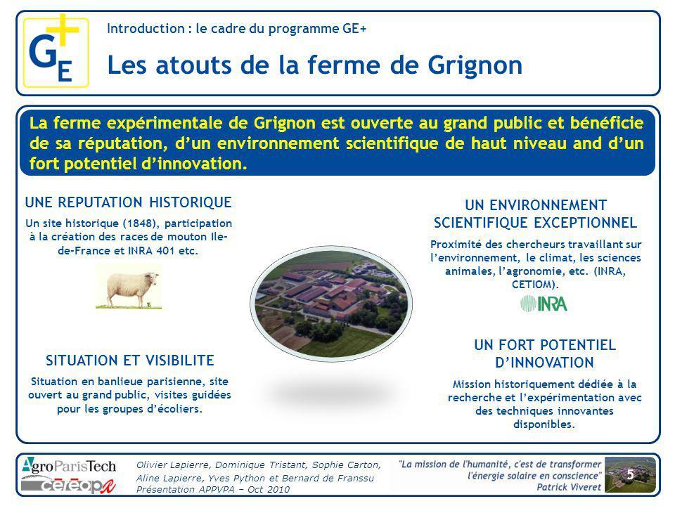Introduction : le cadre du programme GE+