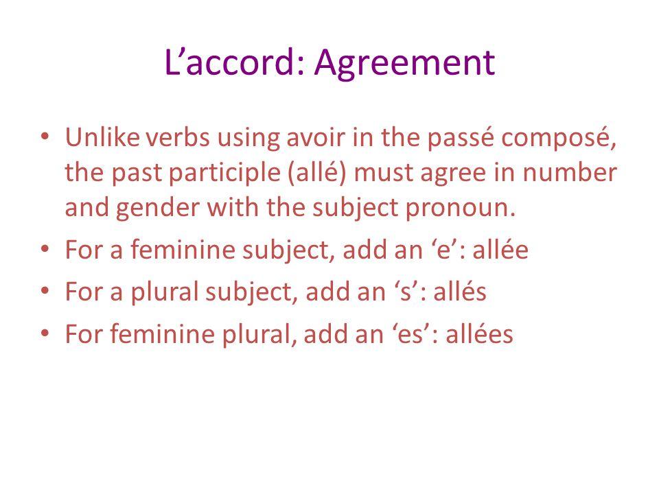 L'accord: Agreement